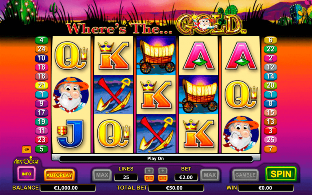 Play Pokies For Free No Deposit Bonus, No Download Along With Free Spins & Credits On The Top Slot pokies of Aristocrat & Wheres The Gold